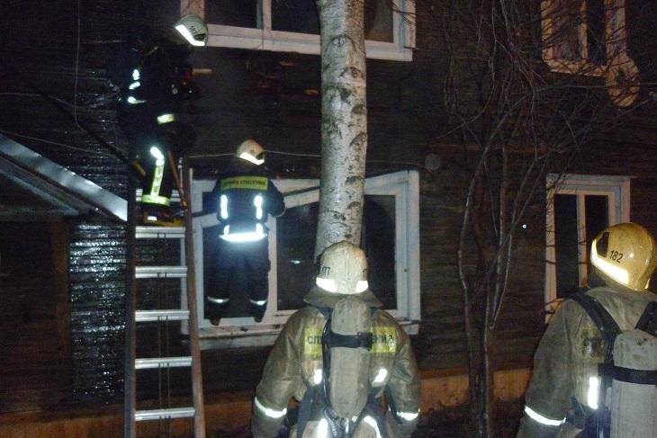 Пожарно-спасательные подразделения ликвидировали пожар в Шенкурском районе Архангельской области