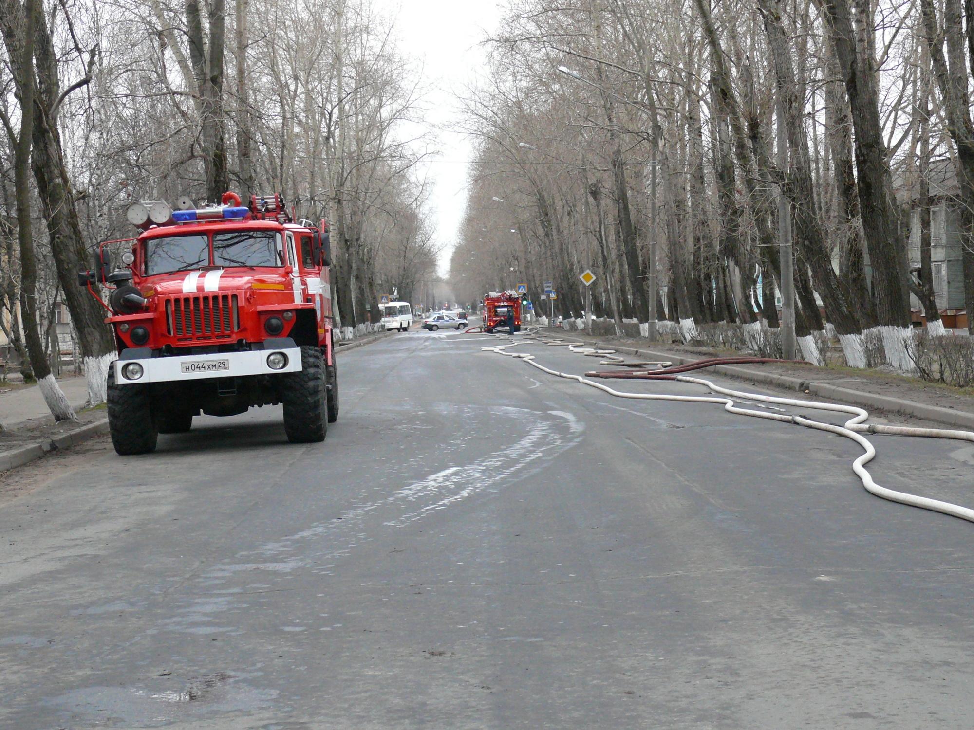 Пожарно-спасательные подразделения ликвидировали пожар в Каргопольском районе Архангельской области