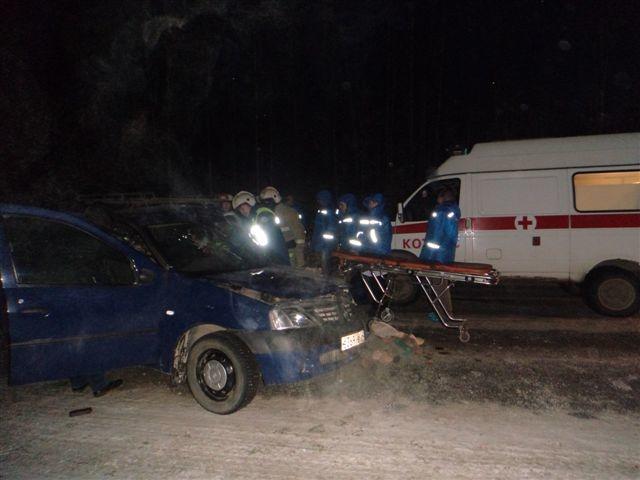 Пожарно-спасательные подразделения приняли участие в ликвидации последствий ДТП в Каргопольском районе Архангельской области.