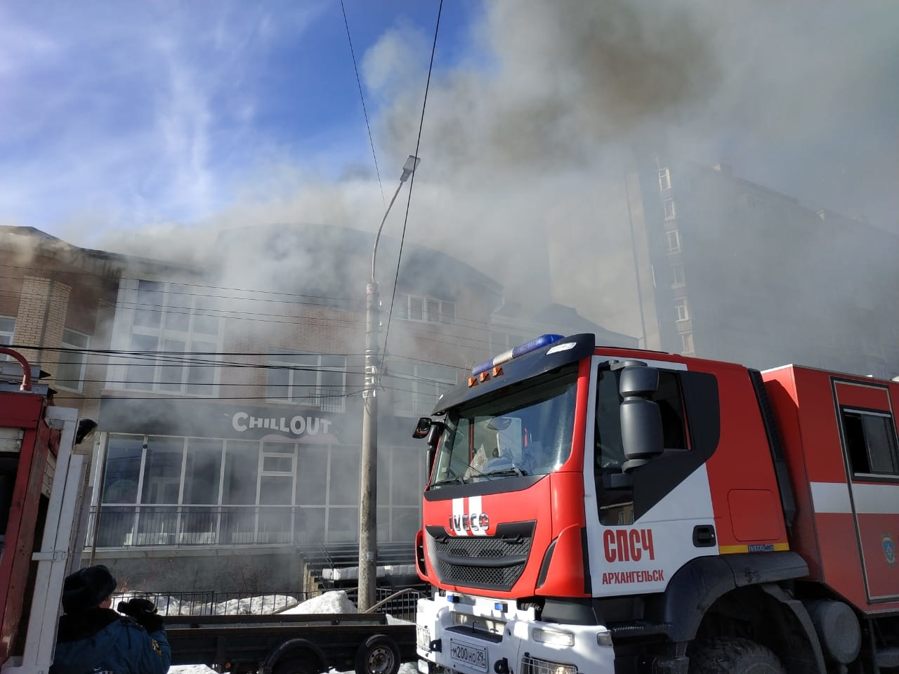Пожарно-спасательные подразделения ликвидировали пожар в Лешуконском районе Архангельской области