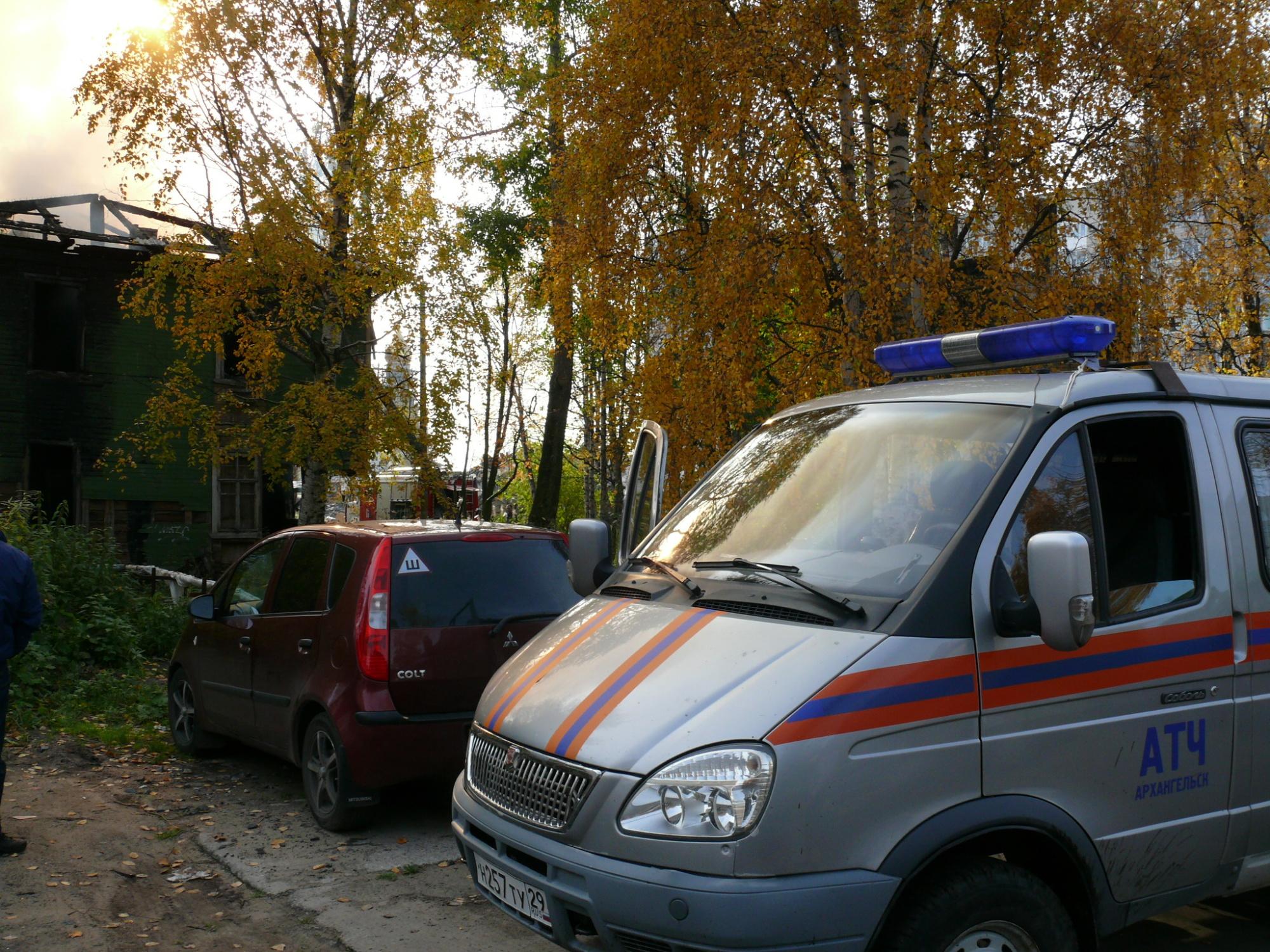 Пожарно-спасательные подразделения ликвидировали пожар в Каргопольском МО Архангельской области.