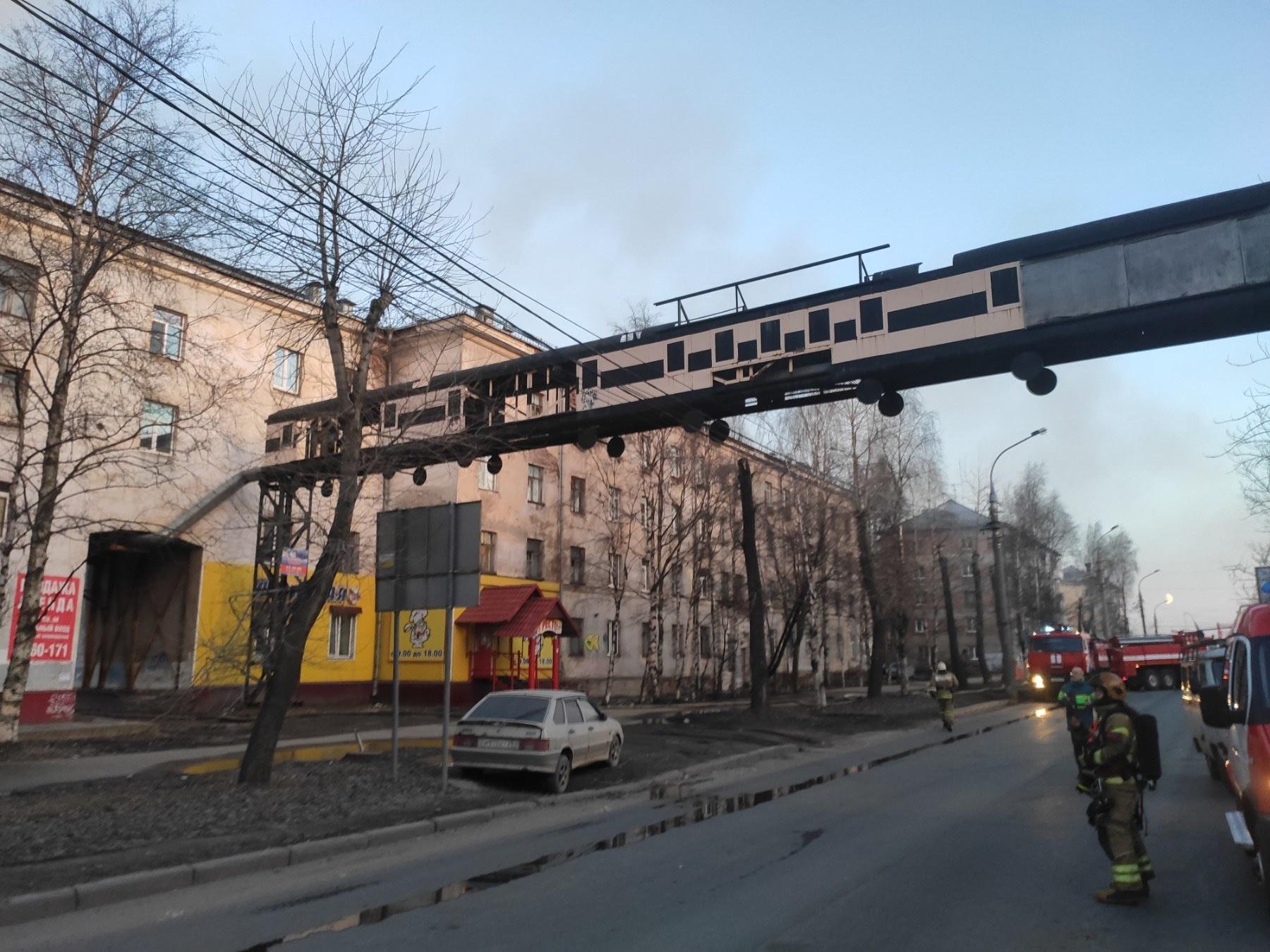 Пожарно-спасательные подразделения выехали на пожар в г. Архангельске