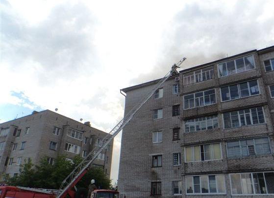 Пожарно-спасательные подразделения ликвидировали пожар в г. Коряжма Архангельской области.