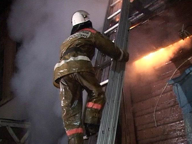Пожарно-спасательные подразделения ликвидировали пожар в Устьянском районе Архангельской области