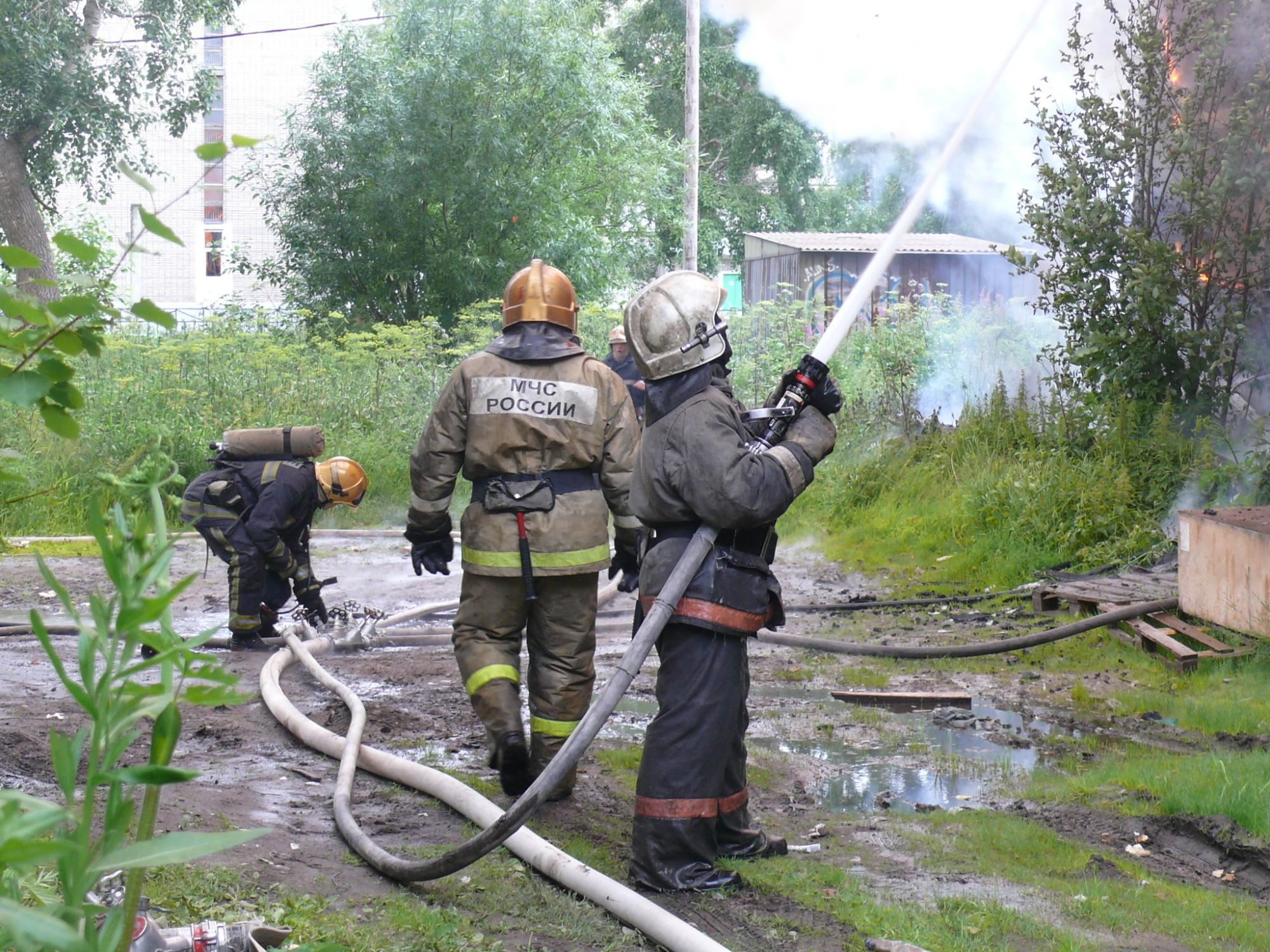 Пожарно-спасательные подразделения ликвидировали пожар в Вельском районе Архангельской области.
